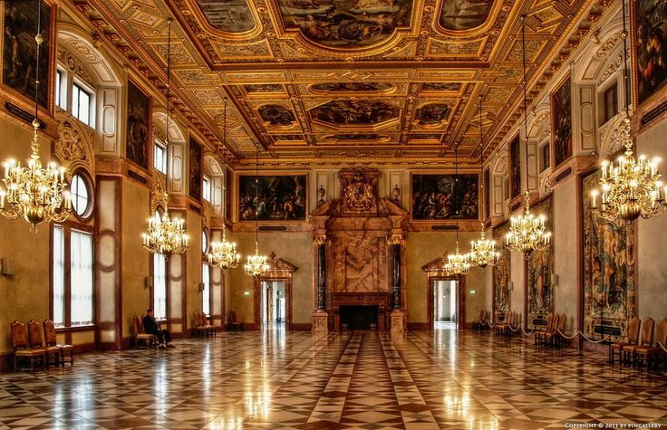 Munich Residenz Golden Hall, former royal palace of the Bavarian monarchs of the House of Wittelsbach in the centre of the city of Munich. largest city palace in Germany