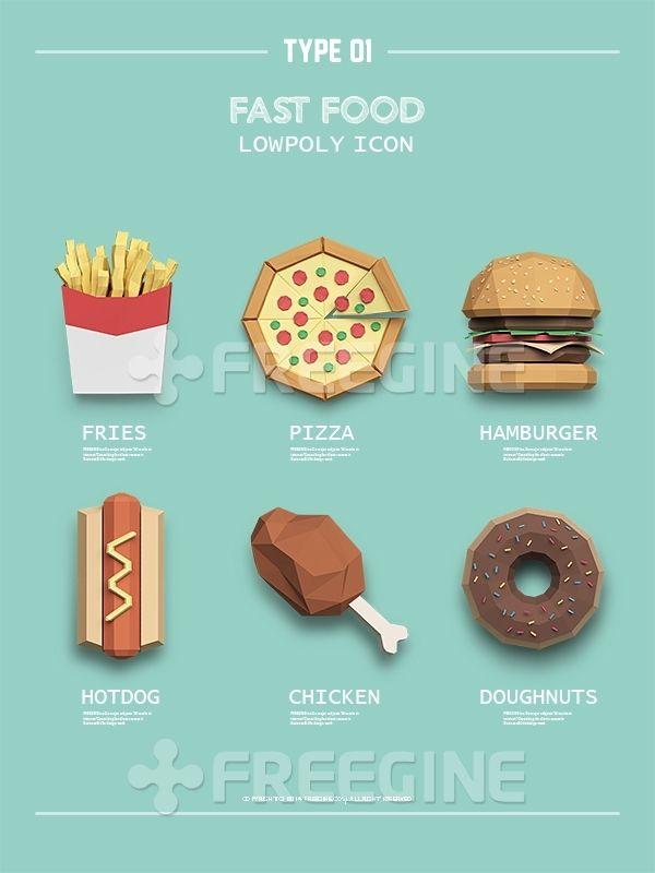 오브젝트, 음식, 그래픽, Graphic, freegine, 패스트푸드, 치킨, 3D, 기하학, 아이콘, 햄버거, 감자튀김, 프렌치후라이…