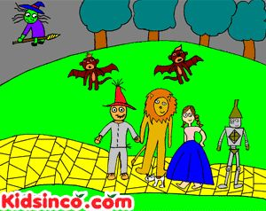 PLAY The Wizard of Oz Playscript for Kids http://www.kidsinco.com/2008/11/the-wizard-of-oz/