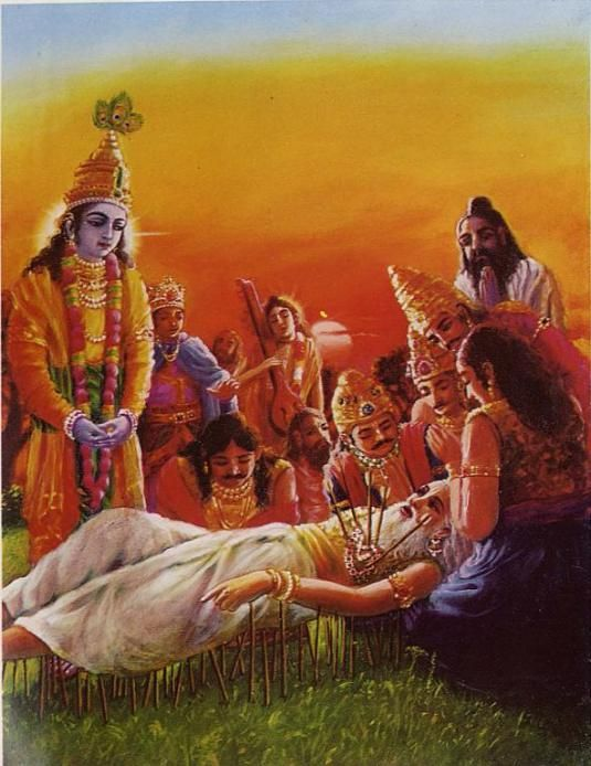 Chapter 1: The Passing Away of Bhīṣmadeva in the Presence of Lord Kṛṣṇa  http://vedabase.com/en/sb/1/9