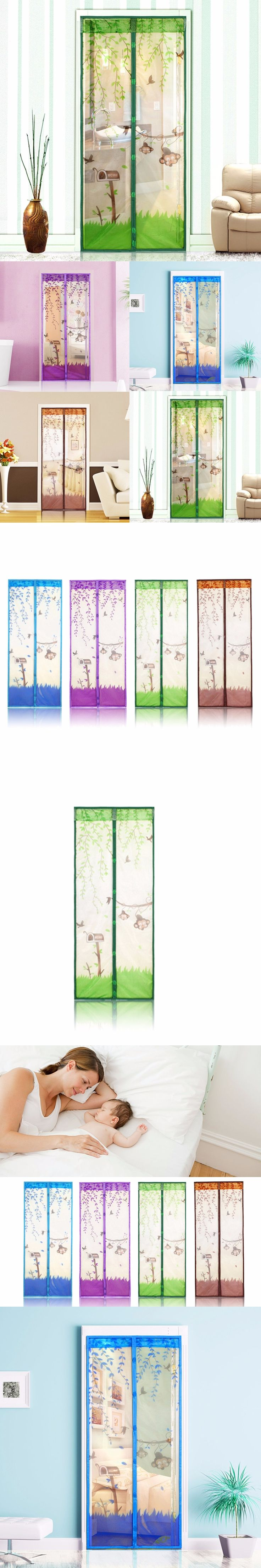 4 Colors Magnetic Mesh Screen Door Mosquito Net Curtain Protect Kitchen Window Organza Scree 90*210cm/100*210cm Drop Shipping