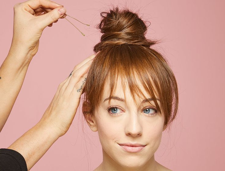 faux bang topknot step 5