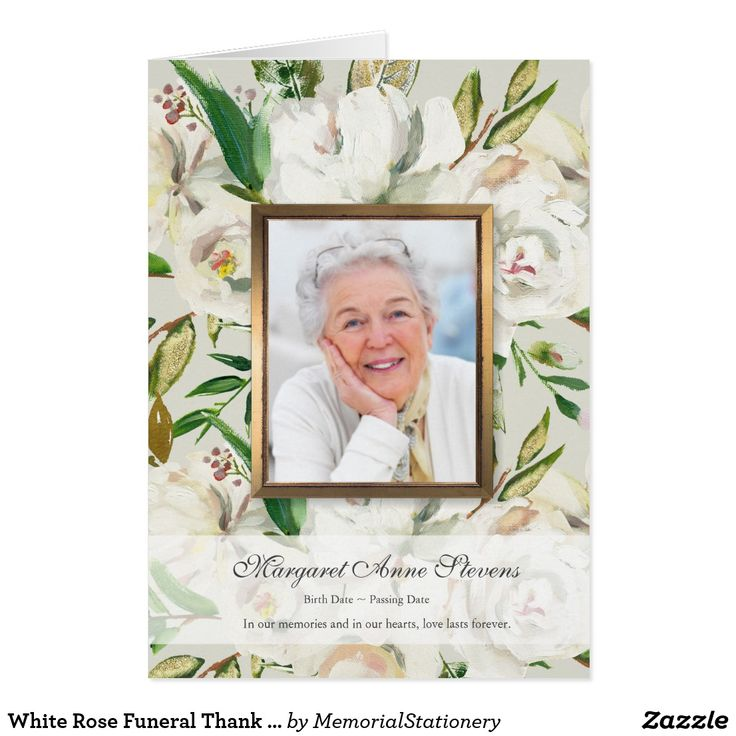 76 best Photo Funeral Thank You cards images on Pinterest