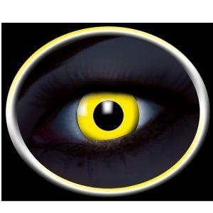 Gule UV Kontaktlinser. flotte selvlysende linser. #kontaktlinser #lenses