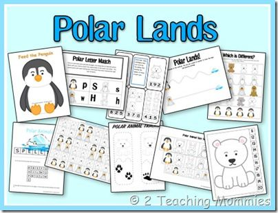 Polar Lands Expanded preschool theme pack; could also go with winter or animal habitats