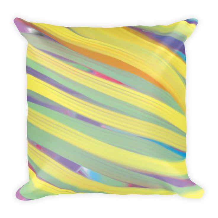 Yellow Stripes Square Pillow