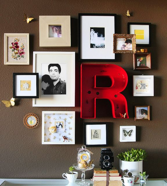 another picture wall - love!