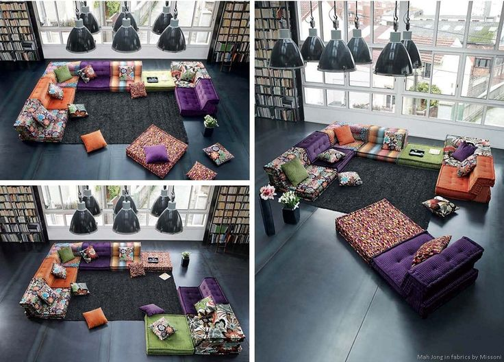 7 best Sofa images on Pinterest : Modular furniture, Bohemian living rooms and Contemporary fabric