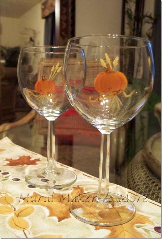 Best fall wine glasses ideas on pinterest painting