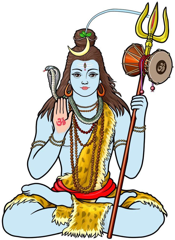 ダマルを持つヒンズー教のシバ神(shiva)