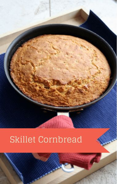 Rachael Ray: Carla Hall Skillet Cornbread Recipe - use vegan flax eggs and soymilk instead of the dairy