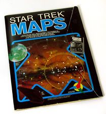 Rare Vintage 1980 Star Trek Maps Navigational Charts Wall Illustrations Poster