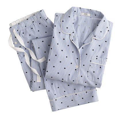 Vintage pajama set in dotted stripe