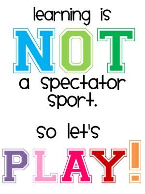 Play is the work of life! Play children Play....Play grownups Play