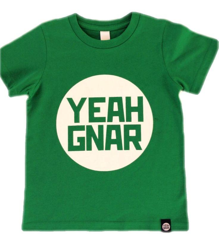 Kids + Youth Tee - Green/white / Yeahgnar