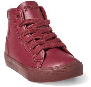 Ralph Lauren Slater Mid-Top Sneaker Burgundy 4