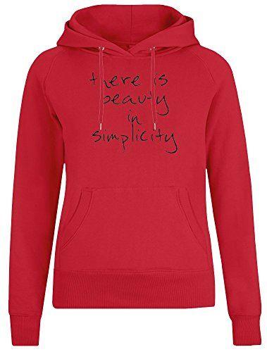There is Beauty in Simplicity Jacke mit Kapuzenpulli fÃr Frauen – 100% Weiche B…