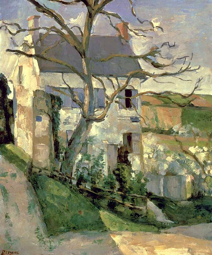 ۩۩ Painting the Town ۩۩ city, town, village house art - The House and the Tree, 1873-74 / Paul Cézanne