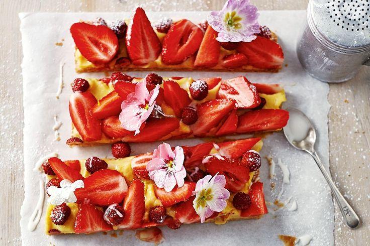 Jamie Oliver's strawberry slice - Recipes - delicious.com.au