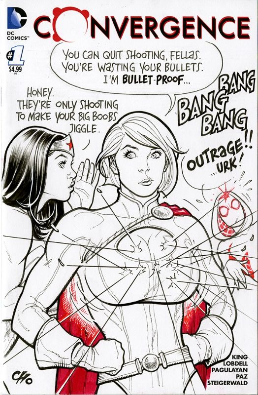 Power Girl and Wonder Woman - Bullet Proof
