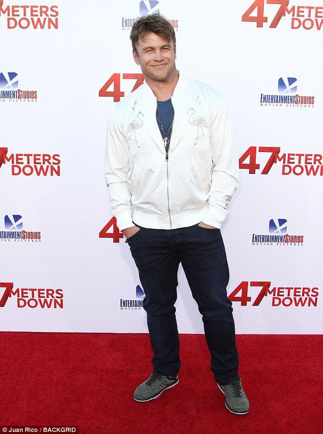 White on the mark!Luke Hemsworth, the eldest brother of the Hemsworth family of actors, attended the premiere of 47 Meters Down in Los Angeles on Monday