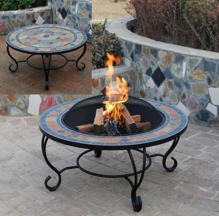 best  about My garden on Pinterest  Fire pit table