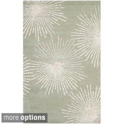 Safavieh Handmade Soho Burst Grey New Zealand Wool Rug By Safavieh. 4x6 RugsOutlet  StoreWool ...
