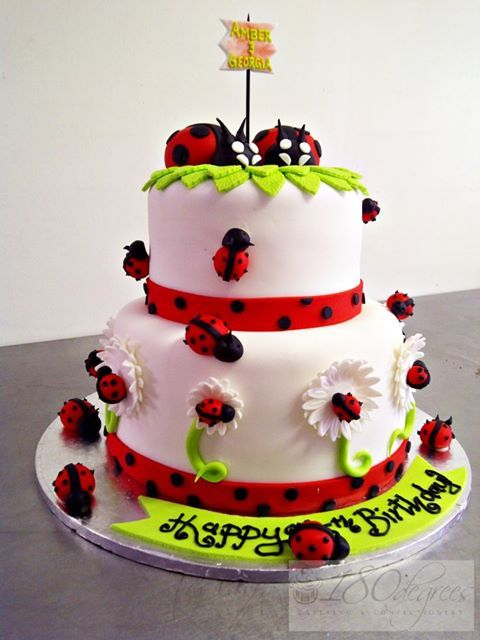 123 best Birthday Cakes images on Pinterest Ladybug cakes Cow