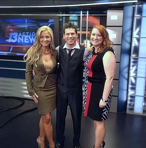 Celebrity Sighting: Comedy Magician Mike Hammer at Channel 13 Action News on KTNV
