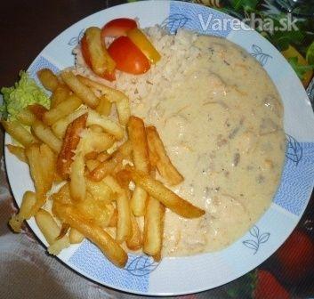 Syrovo - šampiňónová omáčka - Recept