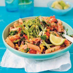 Mexican Pasta Salad #Vegetarian #Pasta #Salad #Vegetarian