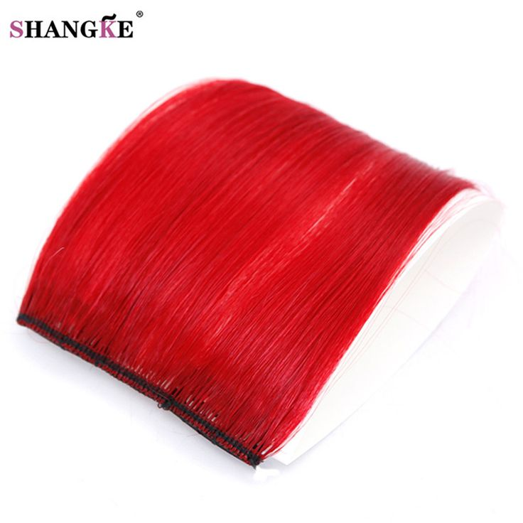 SHANGKE Short Red Hair Extensions 2 Clip In Hair Extension Natural Heat Resistant Synthetic Hairpieces Hairstyles Women
