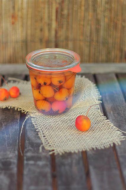 MojeTworyPrzetwory: Rajskie jabłuszka marynowane , różane