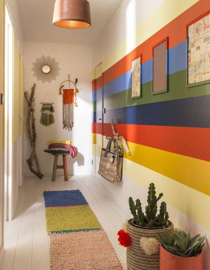 17 meilleures id es propos de bandes de peinture sur pinterest murs peints rayures murs. Black Bedroom Furniture Sets. Home Design Ideas