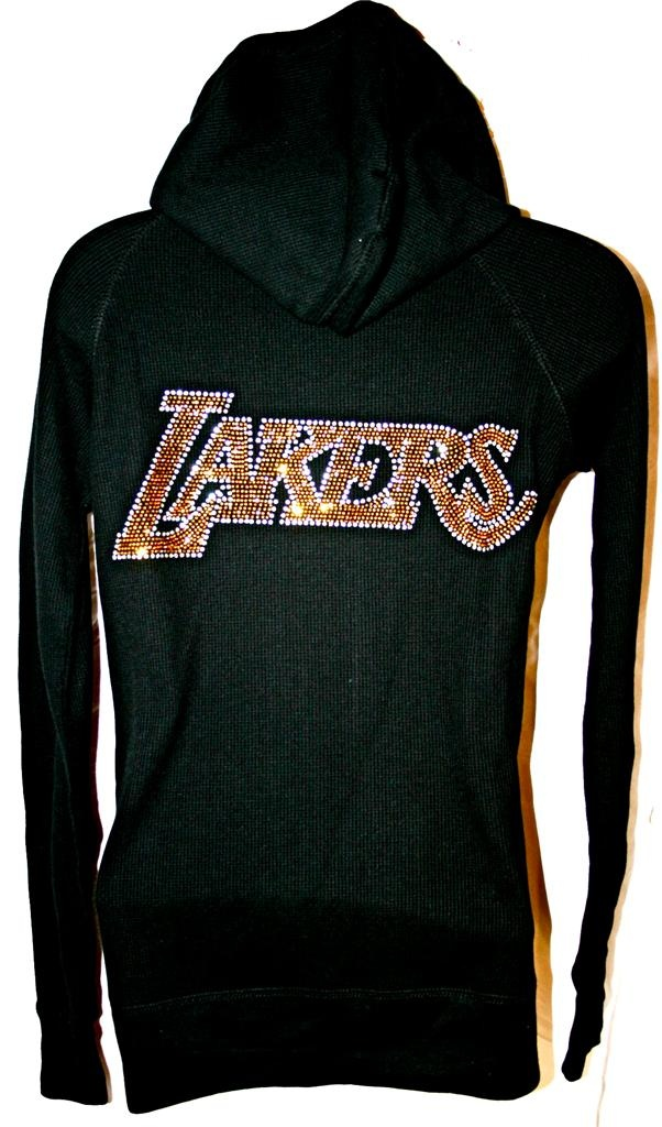 LA Los Angeles LAKERS Bling Womens Thermal Hoodie Really want this!