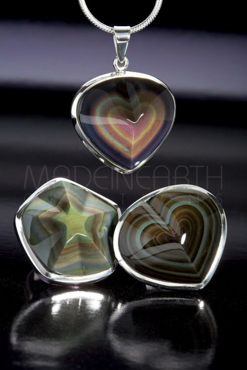 Rainbow Obsidian from MEXICO… Volcanic glass never looked so good!