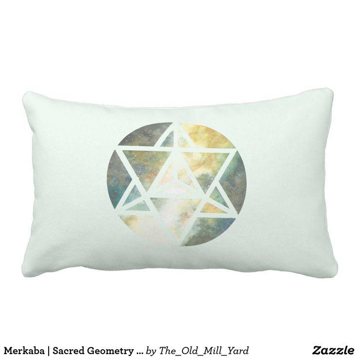 Merkaba | Sacred Geometry Pillow by Kari Weatherbee Lumbar Pillow | Bedding | Home Decor