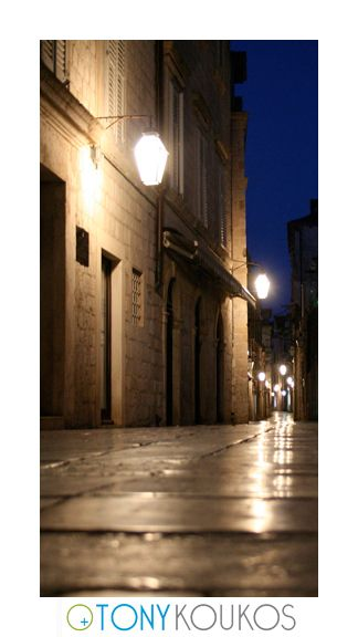 lanterns, street, narrow, doorways, night, dubrovnik, croatia, europe, travel, photography, art, Tony koukos, places