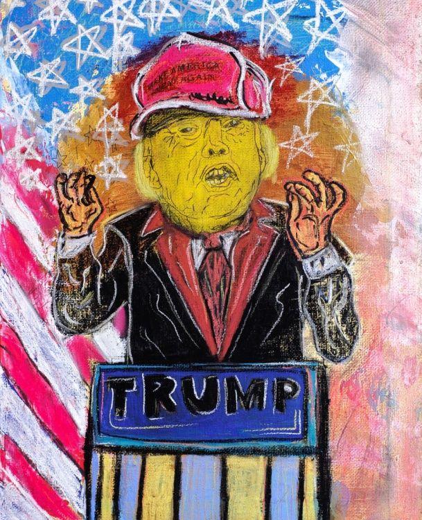 Donald Trump, Trump, Us President, US Elections 2016, Fine Art, Art, Pastels, Artwork