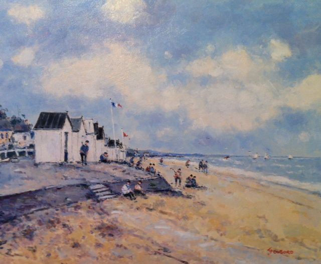 SOLD Beach at Normandy, oil, 18x21 is one of about a dozen we have at the Westport River Gallery See more Dubord information: http://westportrivergallery.com/dubord-jean-pierre-french-benezit-impressionist.html