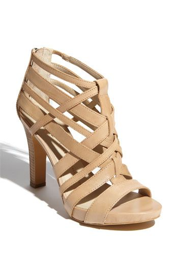 Gorgeous nude sandals by Franco Sarto. One of the big trends in footwear for Spring '12