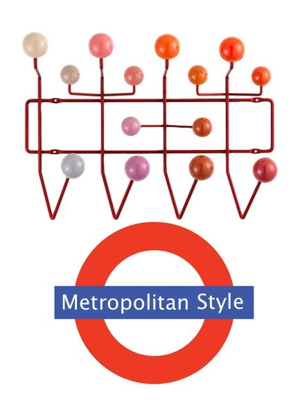 'Hang it all' coat rack. #Steal and #wood by VITRA.  http://bit.ly/1AMOzwX #home #jacket #furniture #design #metro #colors