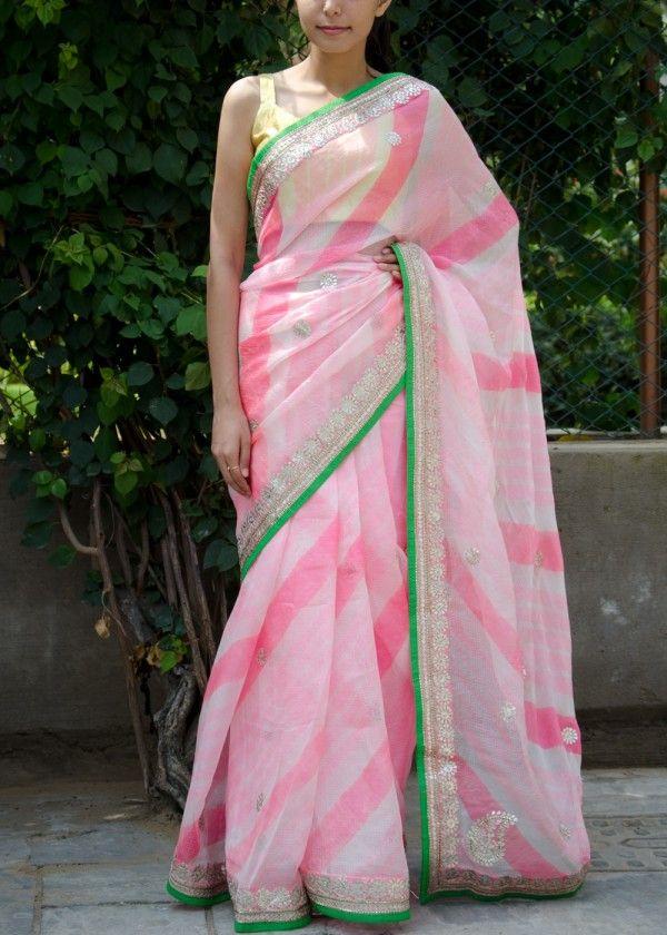 Pink Kota Silk Saree | VNLB1002 | Vasansi Jaipur