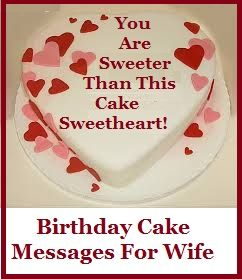Birthday Cake Messages Wife Special And Unique Cake