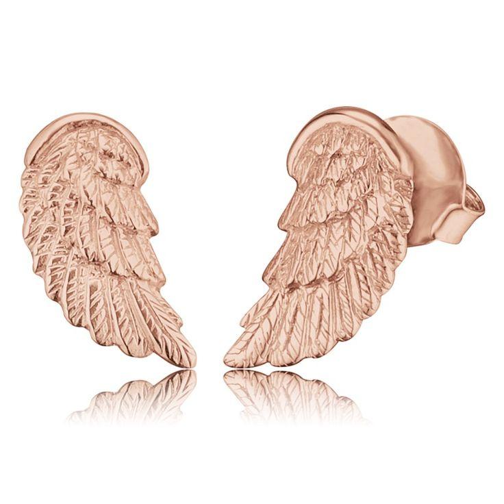 Engelsrufer - Örhängen Wing Stud Rosé