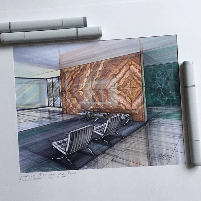 elena.s.ivannikova Pavilion Barcelona. Mies van der Rohe. My submission for @arch_more sketching challenge Read more at http://websta.me/liked?npk=1173124307236638147#6VU4HG0vbUq4GqD7.99