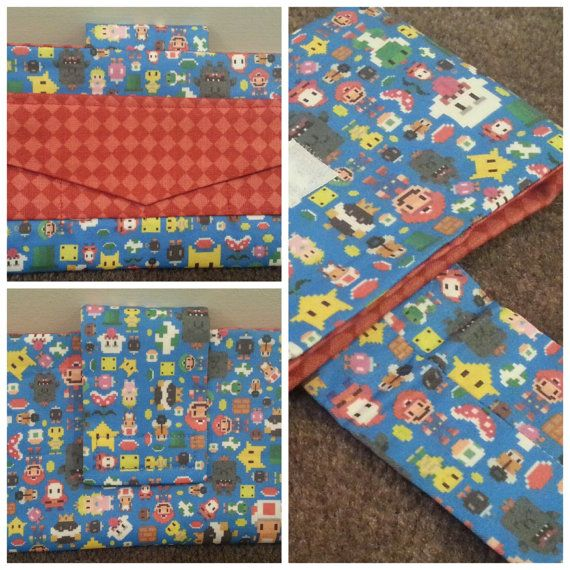 Super Mario DS / 3DS XL Case. Themed Fabric by buttonfoxcrafts, $25.00