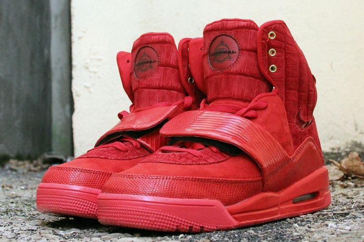 nike air yeezy 1 all red customs 02 Nike Air Yeezy 1 Incomparable by JBF Customs