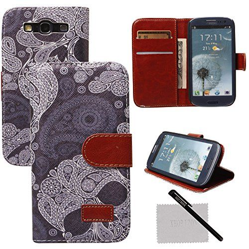 xhorizon® New Floral Leaf Style Wallet Folio Flip Magnet Stand Leather Case Cover with Credit Card Holder for Apple iPhone 4S 5S Samsung Galaxy S3 S4 S5 Note3 with stylus and xhorizon cleaning cloth (Galaxy S3 i9300, #18) xhorizon http://www.amazon.co.uk/dp/B00MN6G9WC/ref=cm_sw_r_pi_dp_f6gJub0NAVN68