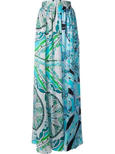 EMILIO PUCCI - pattern print maxi skirt 6